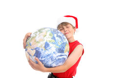 Christmas hugs around the world Stock Photo