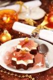 Christmas ice cream Stock Photography