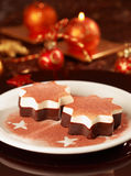 Christmas ice cream Royalty Free Stock Images