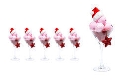 Christmas ice cream Royalty Free Stock Photos
