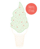 Christmas ice cream Royalty Free Stock Photography