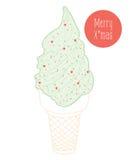 Christmas ice cream Royalty Free Stock Photography