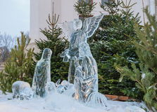 Christmas ice sculptures Stock Images
