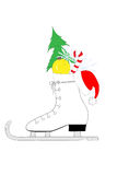 Christmas ice skates Stock Photo