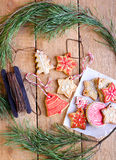 Christmas iced biscuits Stock Photography
