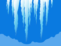 Christmas icicles. Vector christmas icicles on a blue background Royalty Free Stock Photography