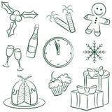Christmas icon Stock Photos