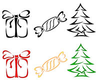 Christmas icon. Set of Christmas icons, illustration Royalty Free Stock Photography