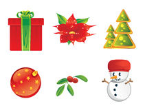 Christmas icon Stock Images