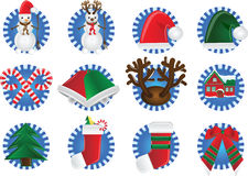 Christmas icon Stock Photos