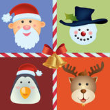 Christmas Icon Background Stock Photography