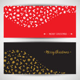 Christmas icon backgrounds. Decorative Christmas backgrounds with various icons Royalty Free Stock Photography