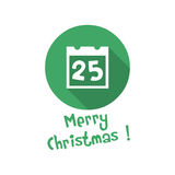 Christmas icon. calendar Stock Images