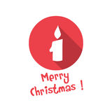 Christmas icon. candle Stock Images