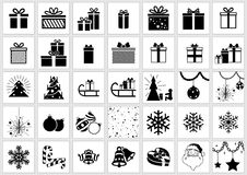 Christmas Icon Collection Royalty Free Stock Photo