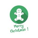 Christmas icon. cookie Stock Photos