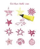 Christmas icon elements Stock Image