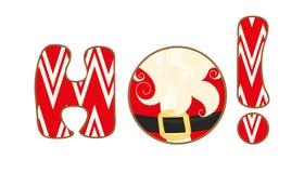 Free Christmas Icon. Ho-ho-ho Sign Set On White Background. Merry Santa Claus Royalty Free Stock Photos - 105216458
