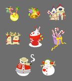 Christmas icon A Royalty Free Stock Image