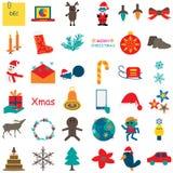 Christmas Icon 2. Illustration design graphic Christmas icon white background Royalty Free Stock Photo