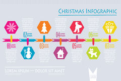 Christmas icon infographic, vector stock illustration