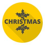 Christmas icon with long shadow Royalty Free Stock Photography