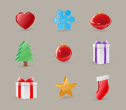 Christmas Icon Objects Royalty Free Stock Photo