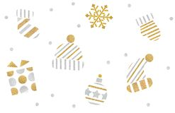 Christmas icon paper cut on white background. Isolated royalty free stock photography