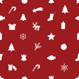 Christmas icon pattern eps10. Red christmas icon pattern eps10 Royalty Free Illustration