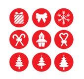 Christmas icon Stock Photography