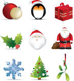 Christmas Icon Set Stock Photos