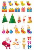 Christmas icon set Stock Photo