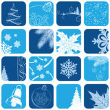 Christmas icon set Stock Images