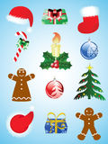 Christmas icon set. Holiday collection Stock Images