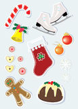 Christmas icon set. A vector illustration Royalty Free Stock Photography