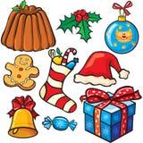 Christmas icon set Stock Photography