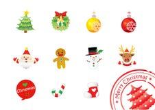 Christmas icon set Royalty Free Stock Photography