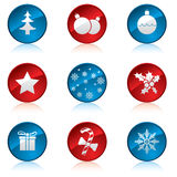 Christmas icon set. Of nine Royalty Free Stock Images