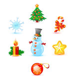 Christmas icon set Stock Photography