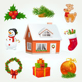Christmas Icon Set. Highly detailed vector elements for Christmas and New Year. EPS 10 Royalty Free Stock Photos