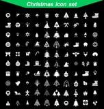 Christmas icon set. 100 icon Christmas icon set Stock Image