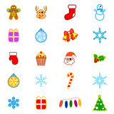 Christmas Icon Set Royalty Free Stock Image
