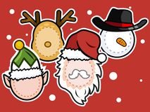 Christmas icon set . royalty free illustration