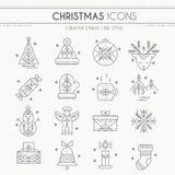 Christmas icon set vector illustration
