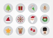 Christmas icon set collection Stock Image