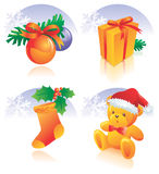 Christmas icon set decoration stock illustration