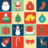 Christmas icon set. Decoration elements. Vector Royalty Free Stock Images