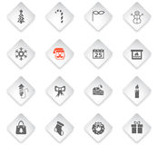 Christmas icon set. Christmas flat web icons for user interface design Stock Images