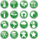 Christmas icon set Stock Photo