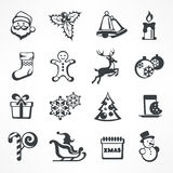 Christmas icon set Royalty Free Stock Photo